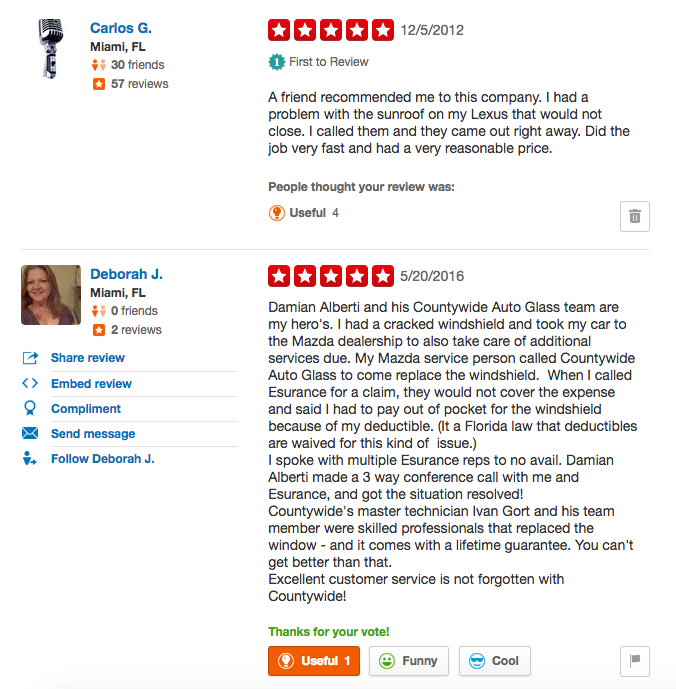 Countywide Auto Glass Yelp Reviews 1 of 5